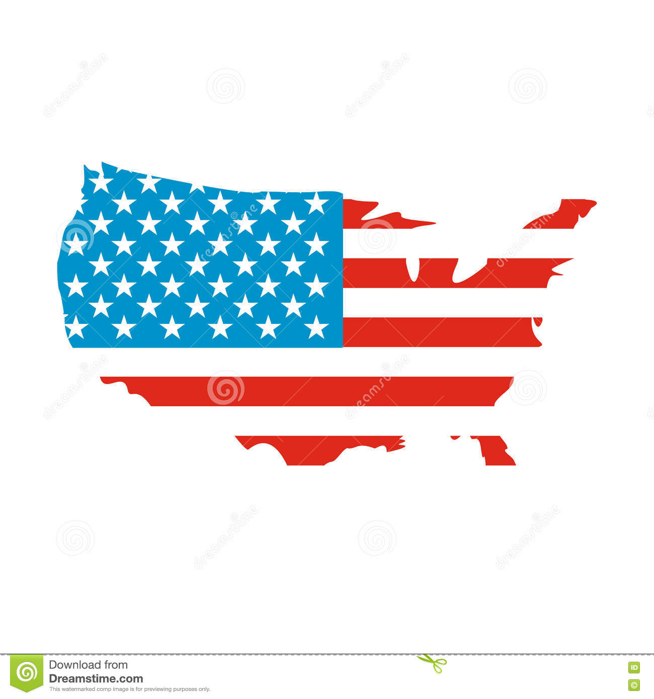Usa Map Flag Icon Stock Vector Illustration Of Illustration 79310287