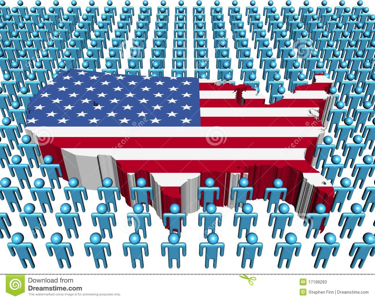 USA Map Flag With People Stock Image Image - Us map with people