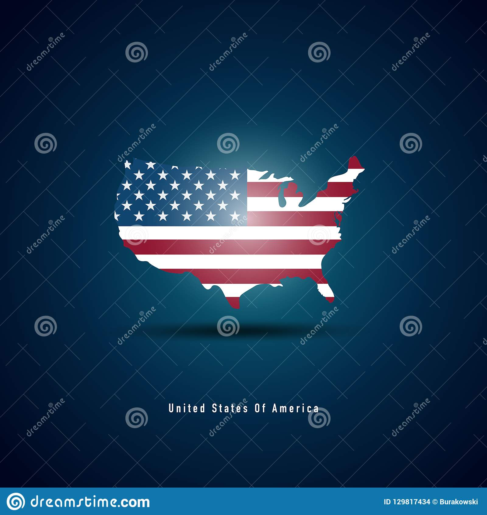 Usa map with Usa flag stock vector. Illustration of patriotic ...