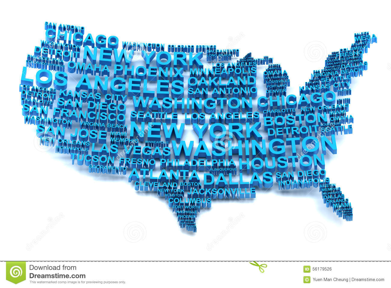 Map Of USA With Major Cities Stock Photography Image - Free us map with major cities