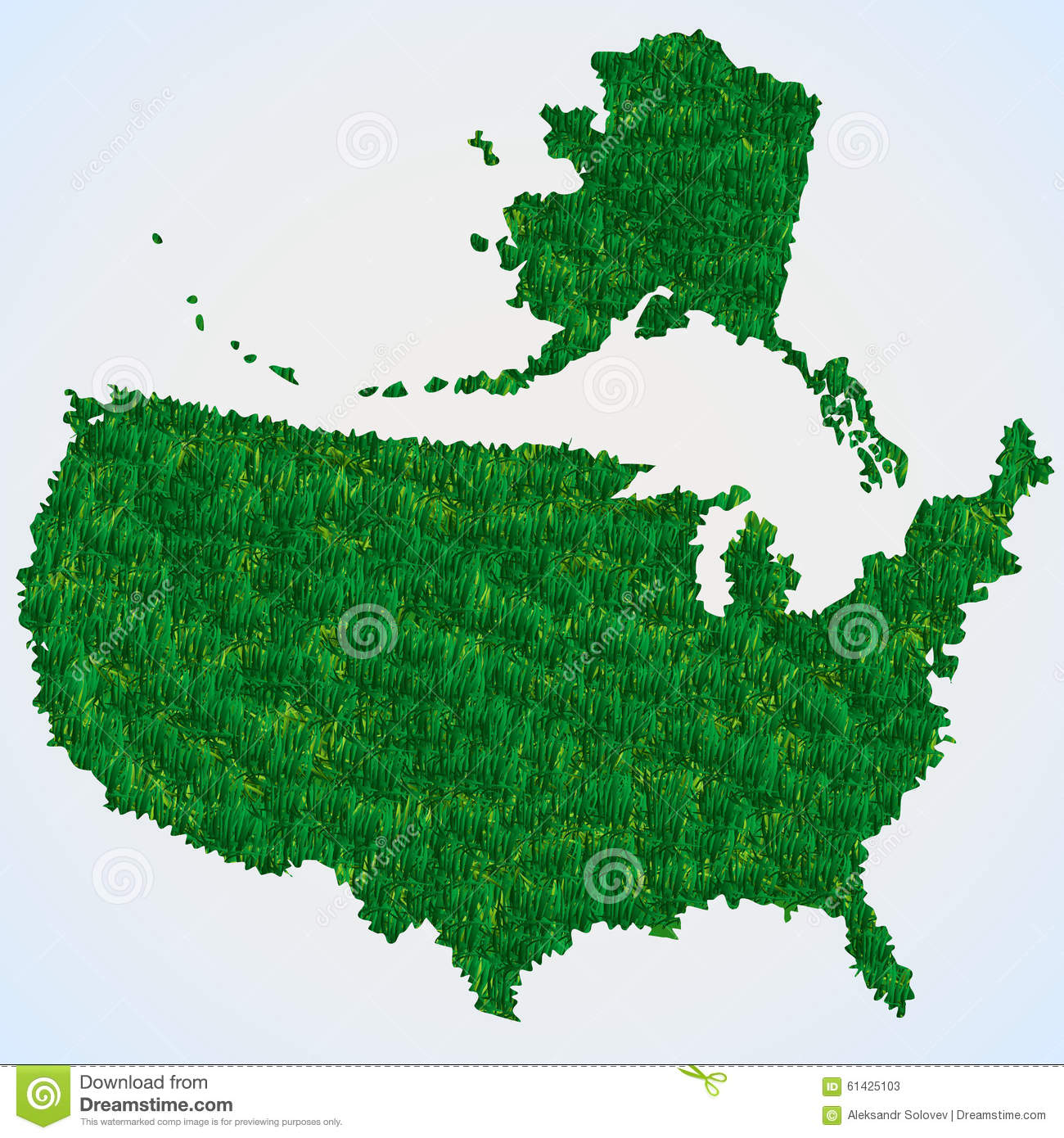 USA Map From Grass Stock Vector Image - Free vector usa map