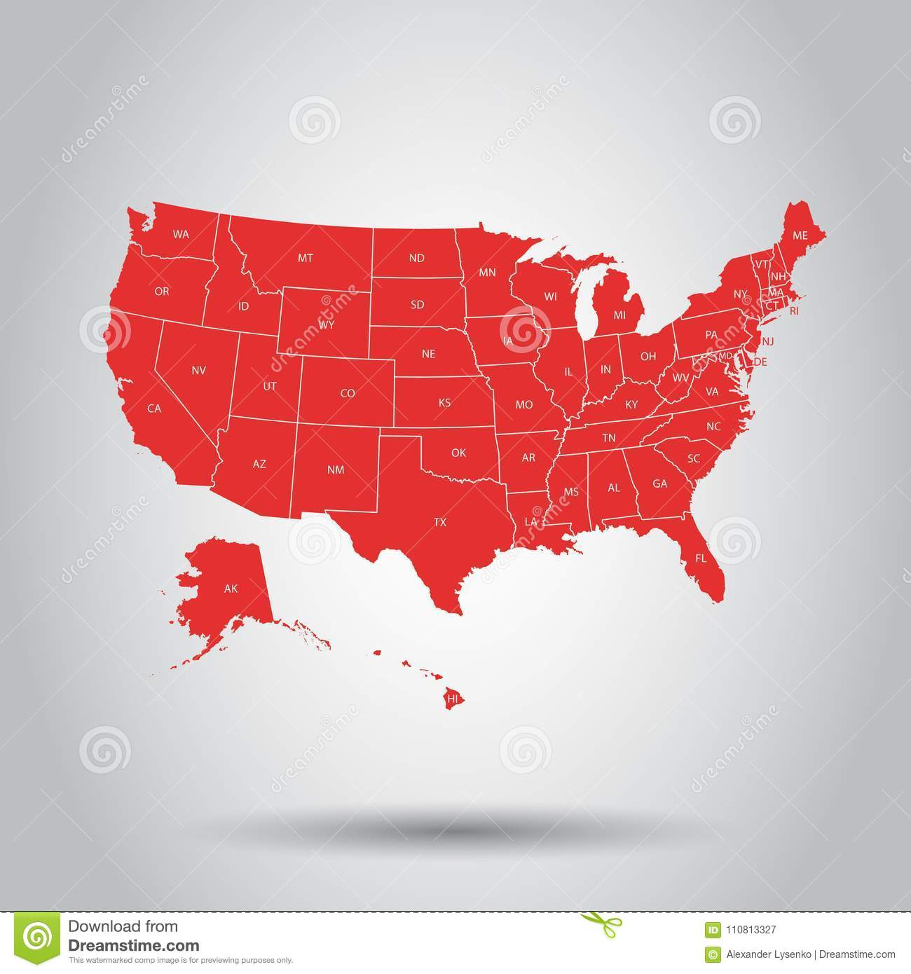 USA Map Icon. Business Cartography Concept United States Of Amer ...