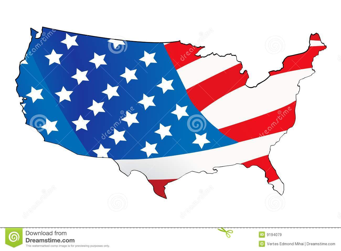 Usa Map With Map Background Royalty Free Stock Images