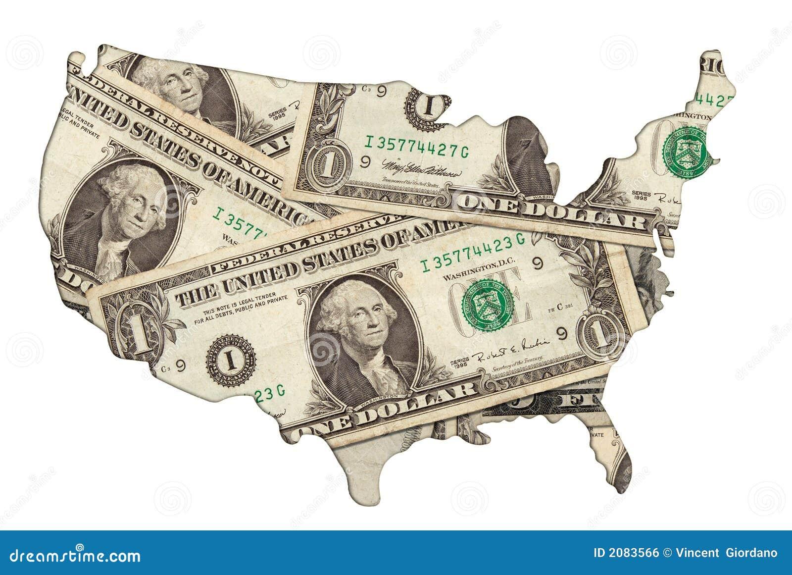 USA Money Map Stock Photos Image - Us money map