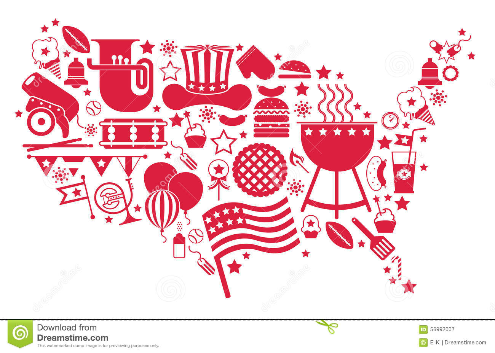 USA Map Silhouette Stock Vector Image - Usa map eps