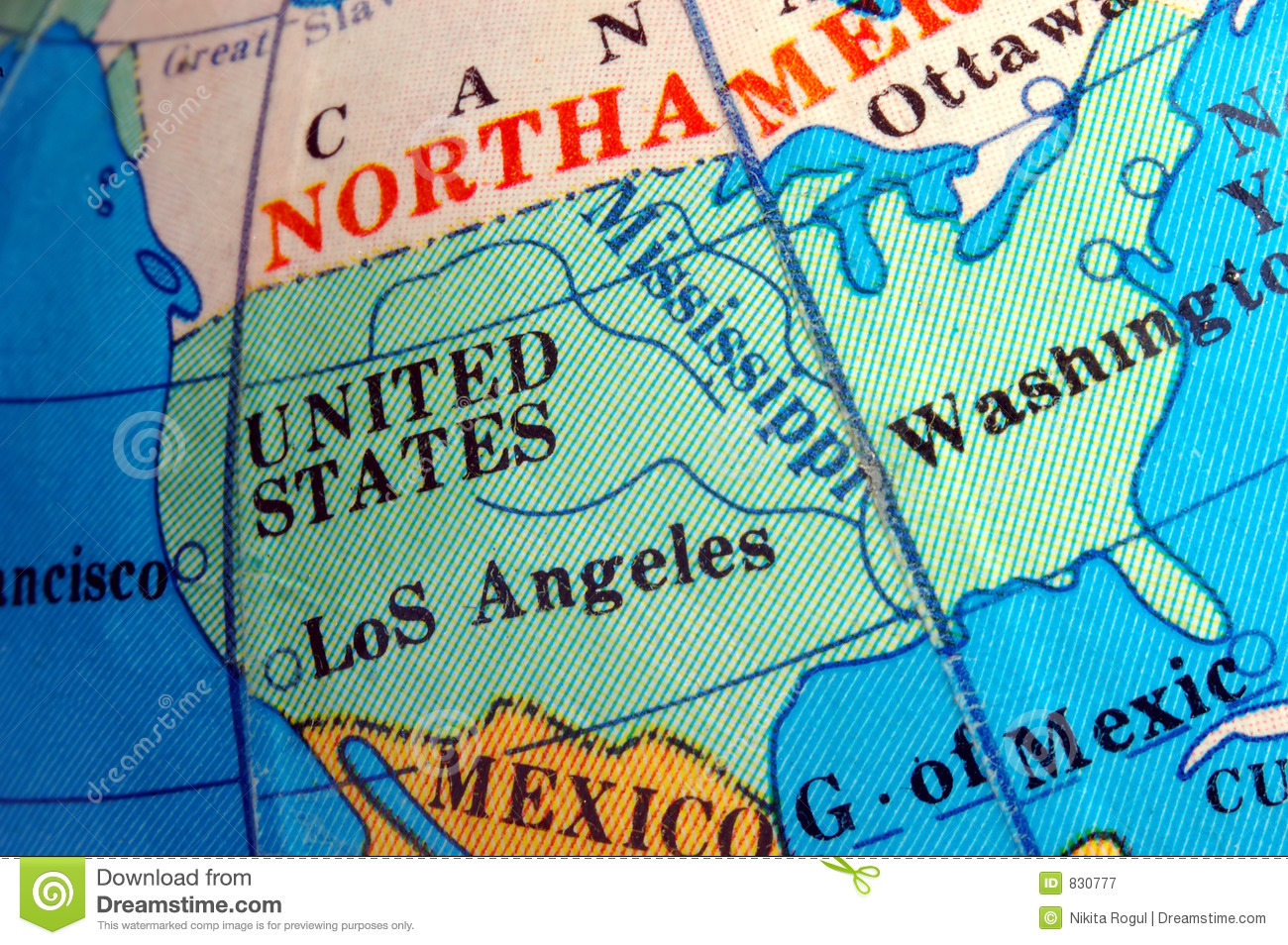 usa map on small terrestrial globe countries closeup