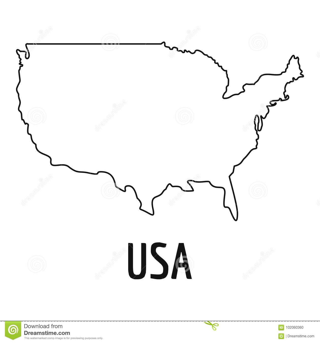 USA Map Thin Line Vector Simple Stock Vector - Illustration ... Simple Map Of The Usa on simple outline of the usa, simple map japan, simple us map, name all states in usa, simple map of usa states, simple united states, simple map uk, simple drawing of the usa, simple map australia, simple map canada,