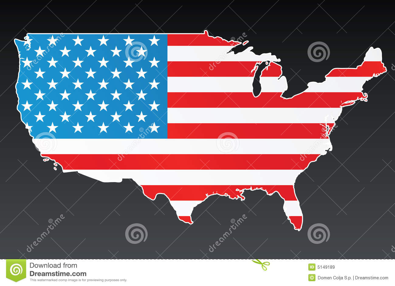 Usa Map With Us Flag Stock Vector Illustration Of Patriotism 5149189 - American-flag-us-map