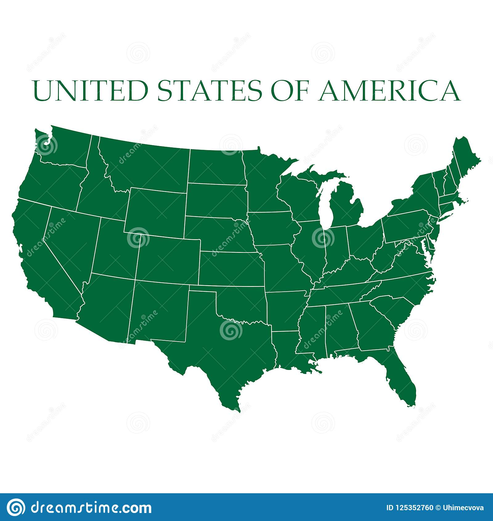 USA Map Vector, US MAP VECTOR, UNITED STATES OF AMERICA MAP VECTOR ...