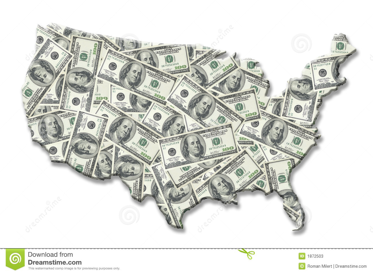 USA money map stock illustration Illustration of wealth 1872503