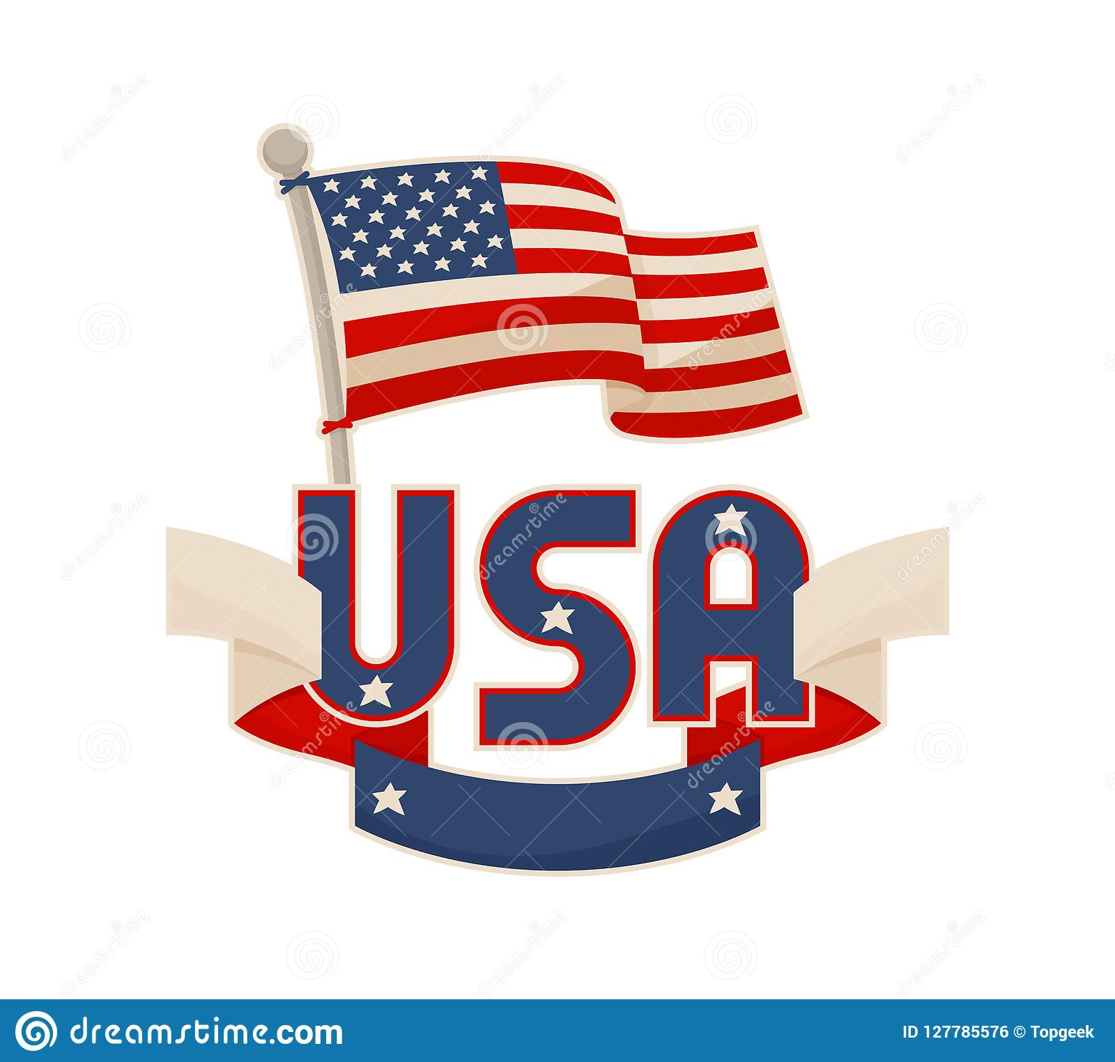 d2afa5a59b6b USA National Symbols Vector Color Illustration Stock Vector ...