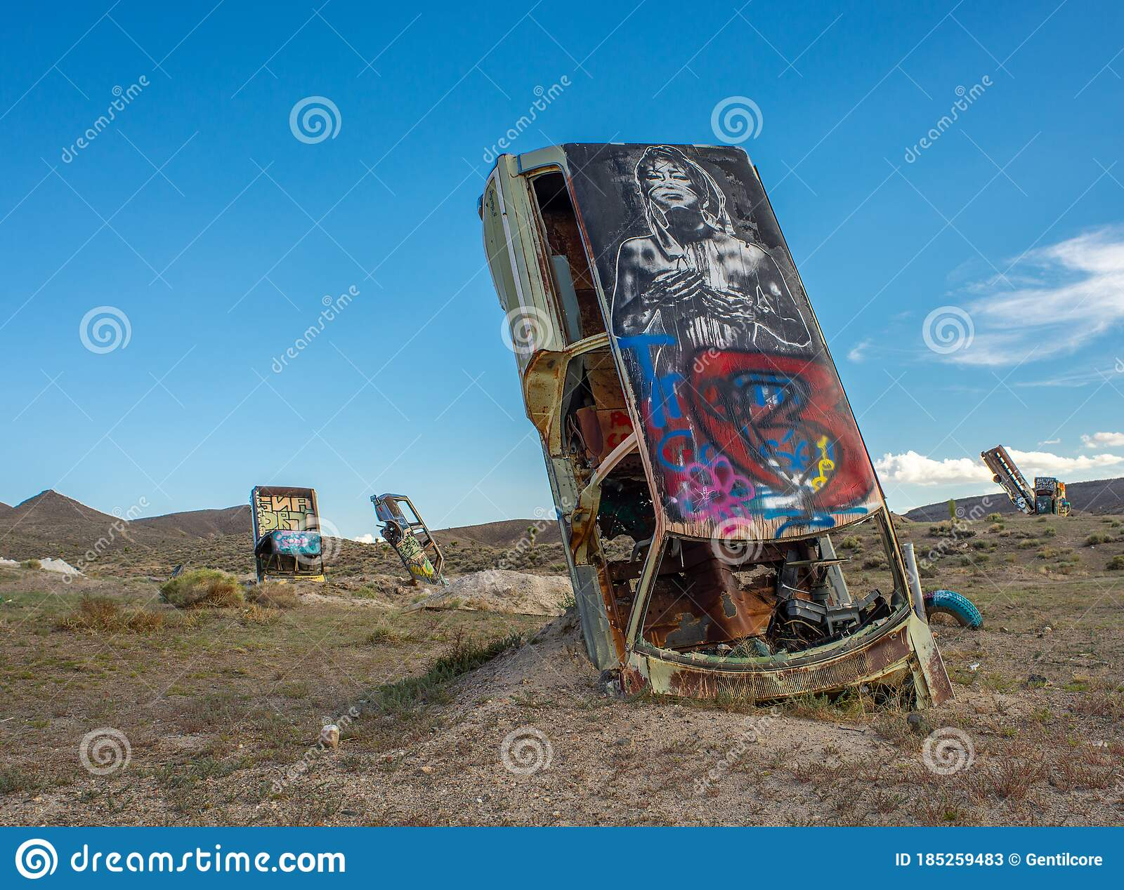 Goldfield Nevada Car Forest Stock Image Image Of Forest Abandoned 185259483
