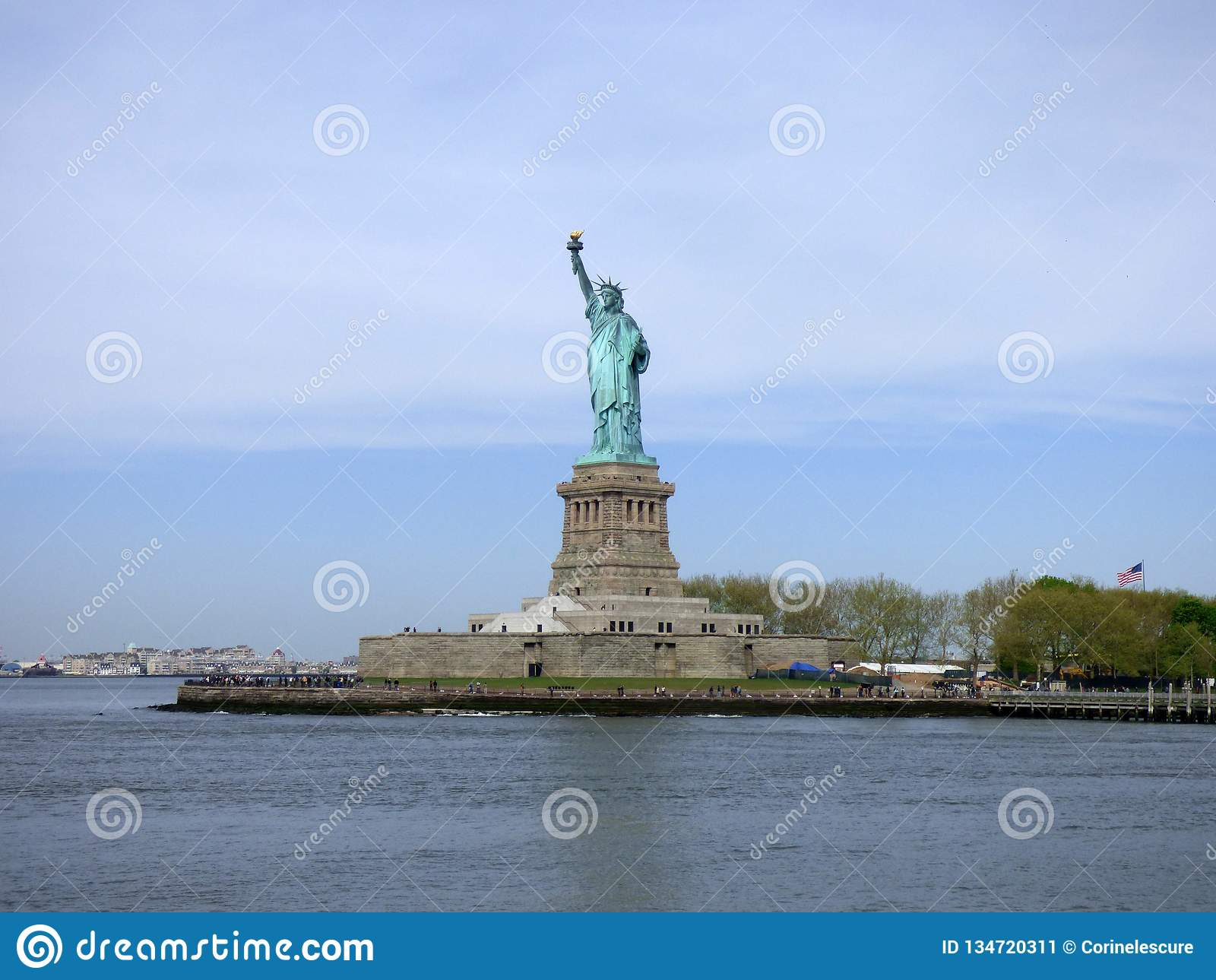 USA New York city liberty newyork statue sunset