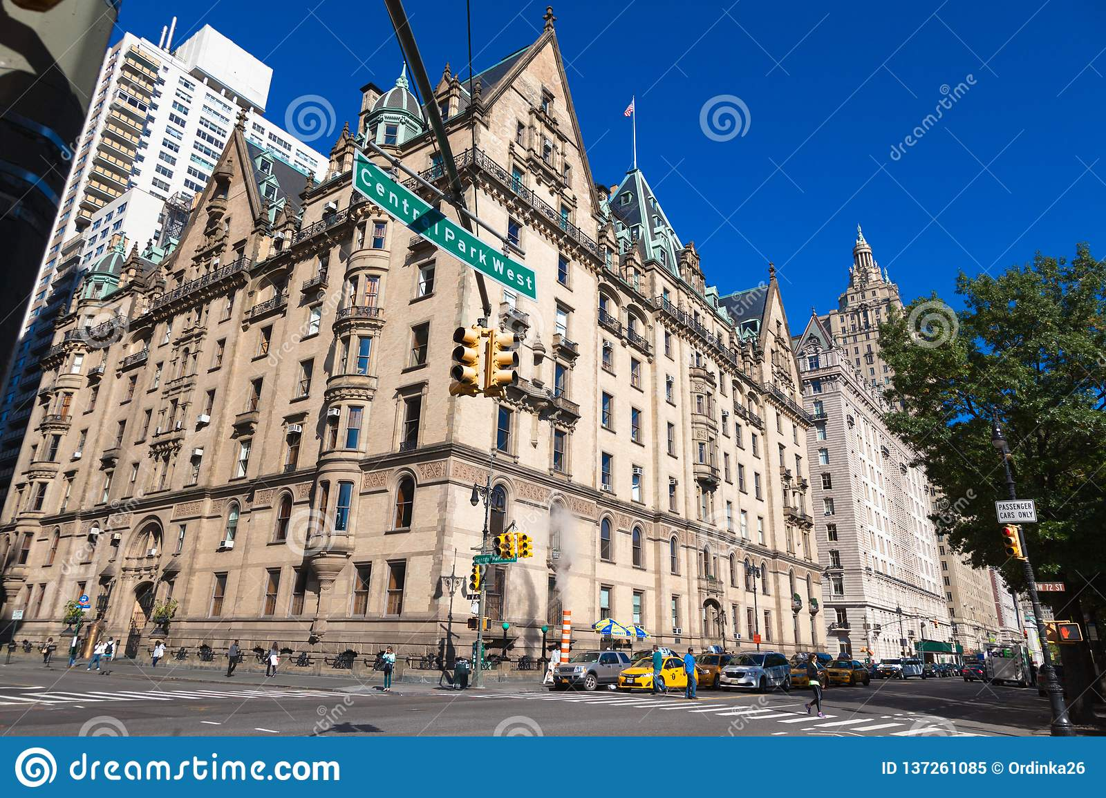 USA, NEW YORK - OCTOBER 15, 2013: Street Central Park West ...