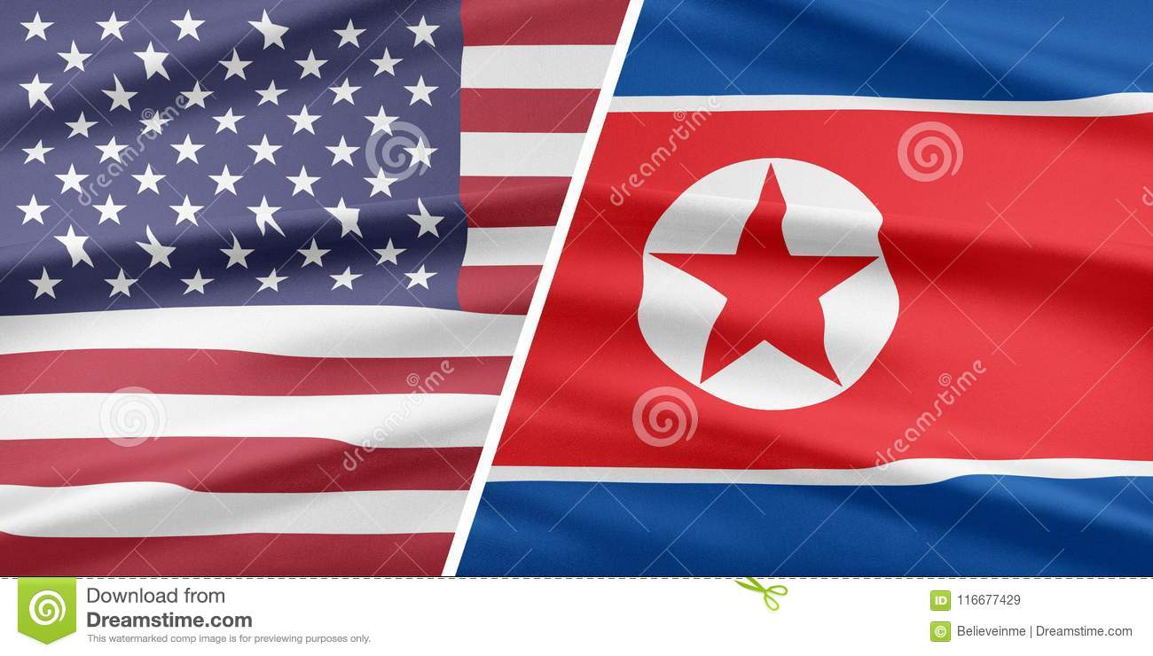 USA And North Korea  Relationship Of Countries  Stock Illustration
