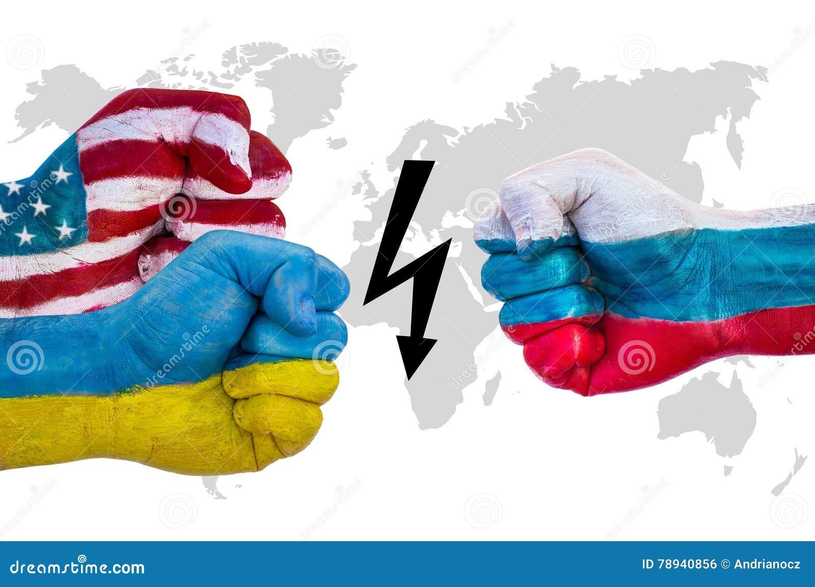USA och Ukraina kontra Ryssland