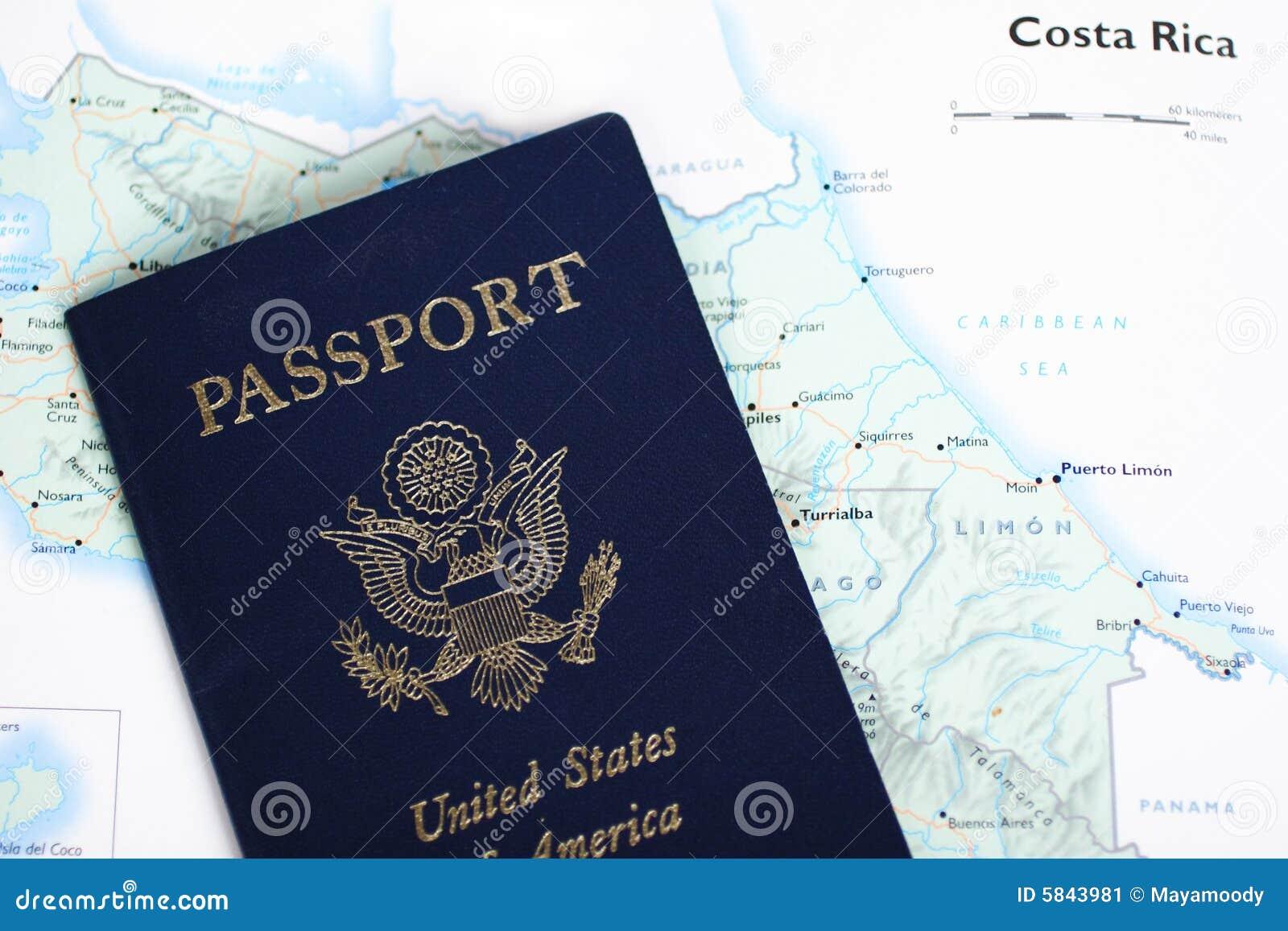 USA-Paß u. Rica-Karte