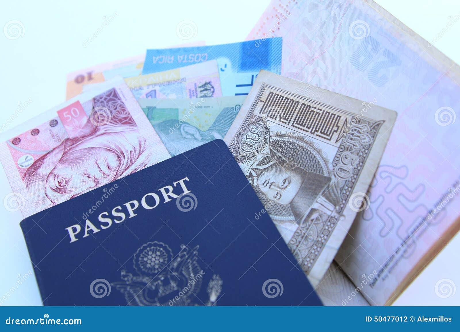USA pass och internationella valutor