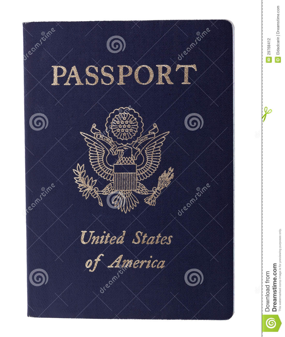 Isolated American Passport Stock Photography - Image: 29768412