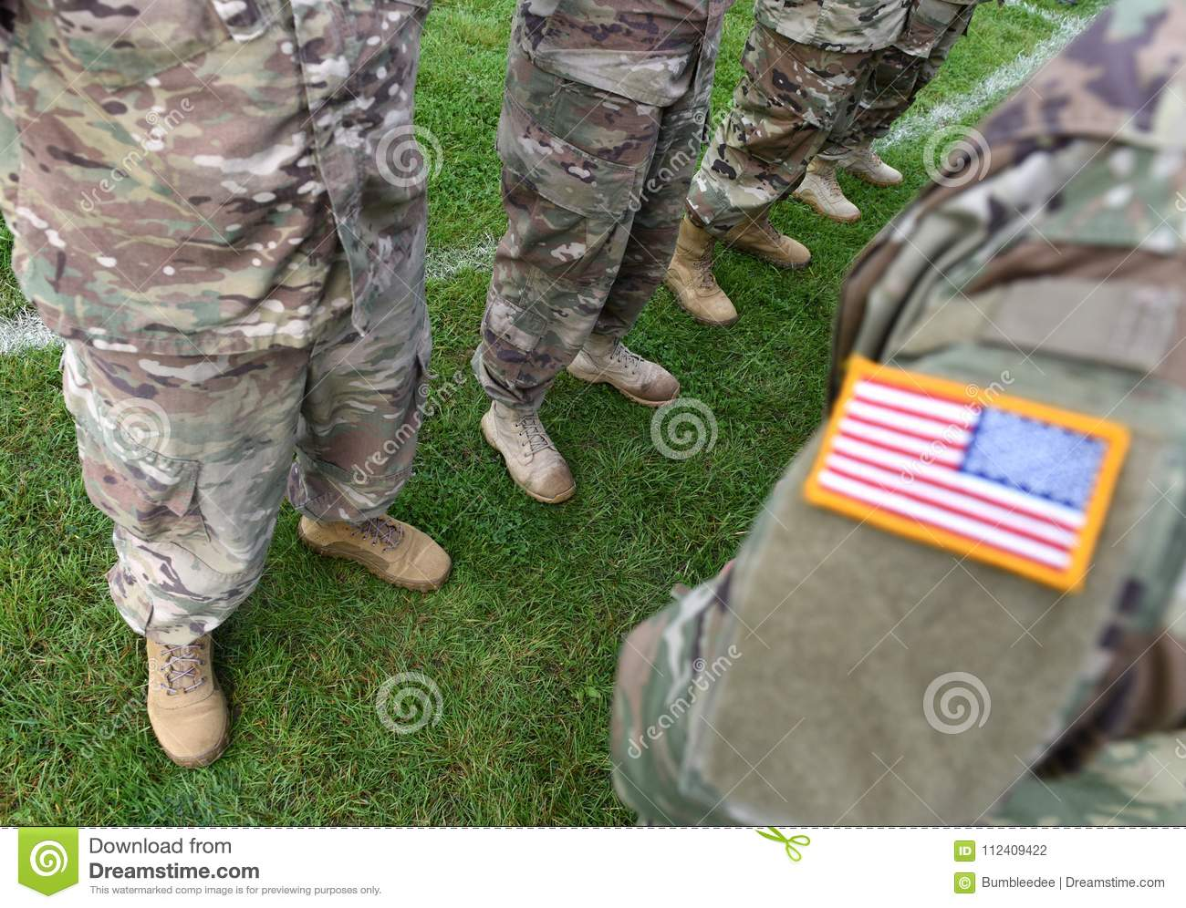 USA Patch Flag On Soldiers Arm Stock Photo - Image of