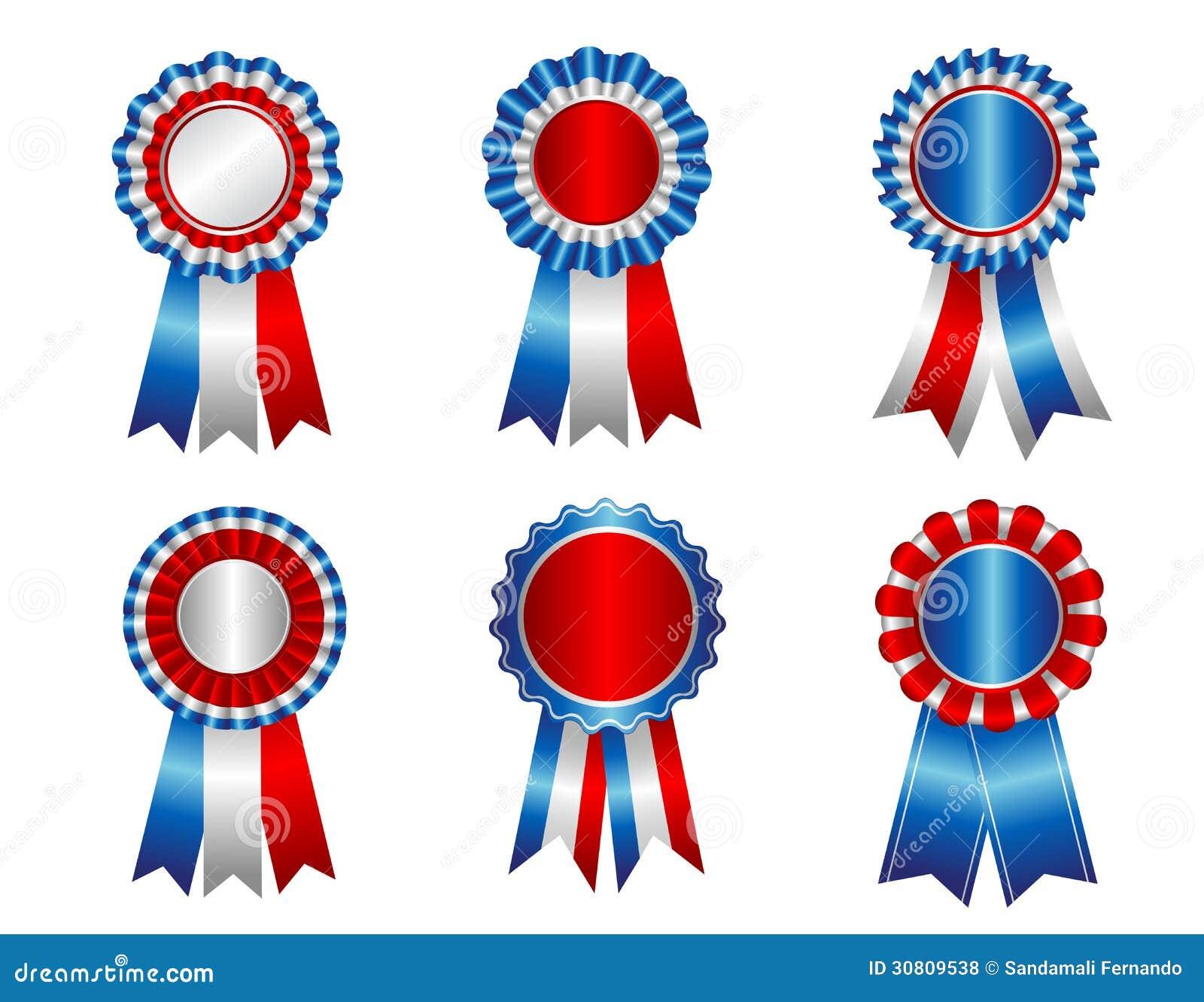 USA Patriotic Award Ribbon Rosette Stock Vector ...