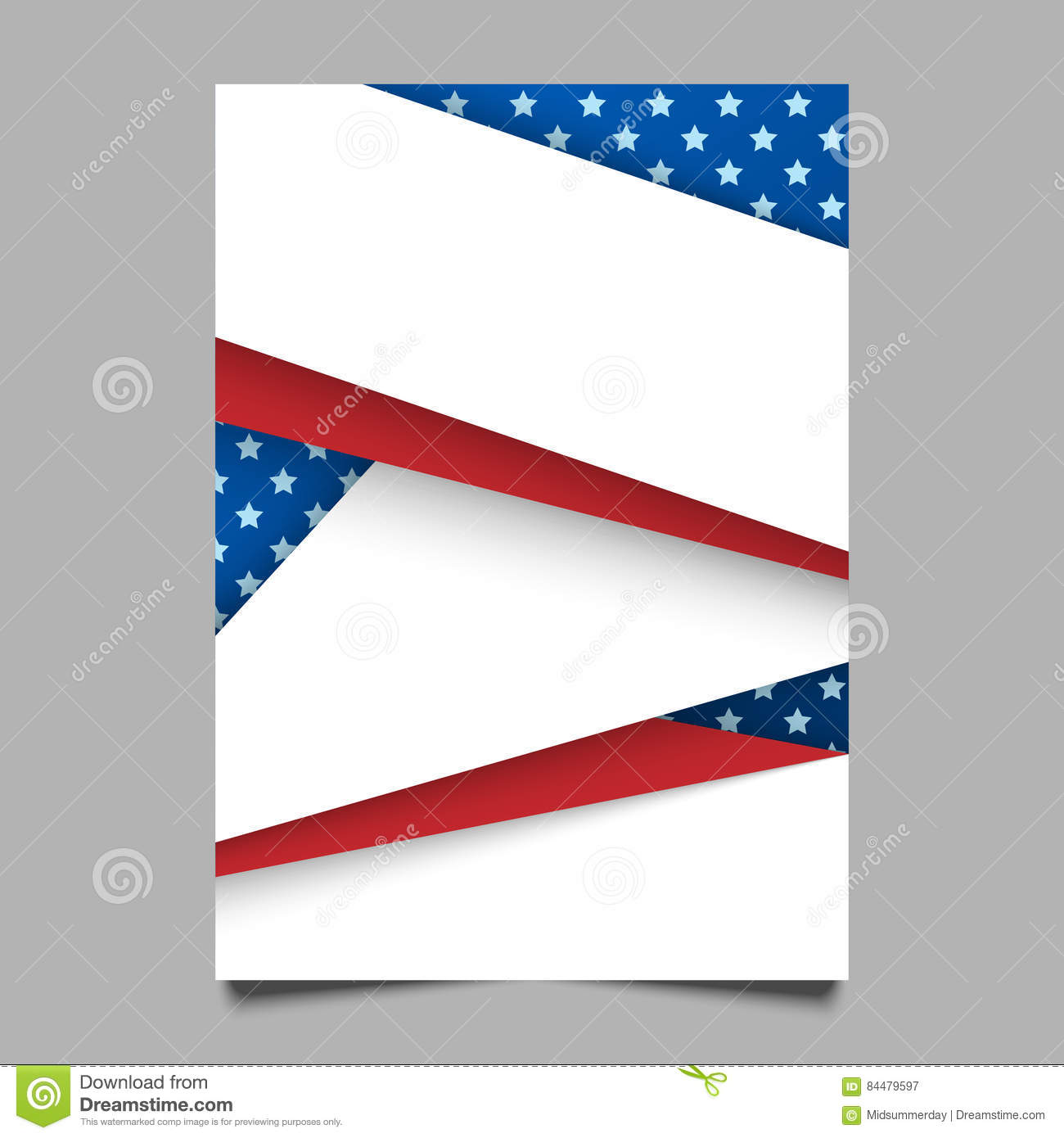usa patriotic background vector illustration with text stripes and