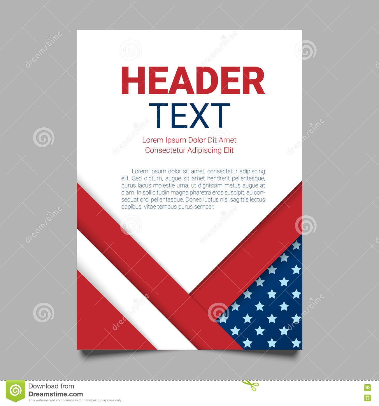 American Flag Flyer Template from thumbs.dreamstime.com