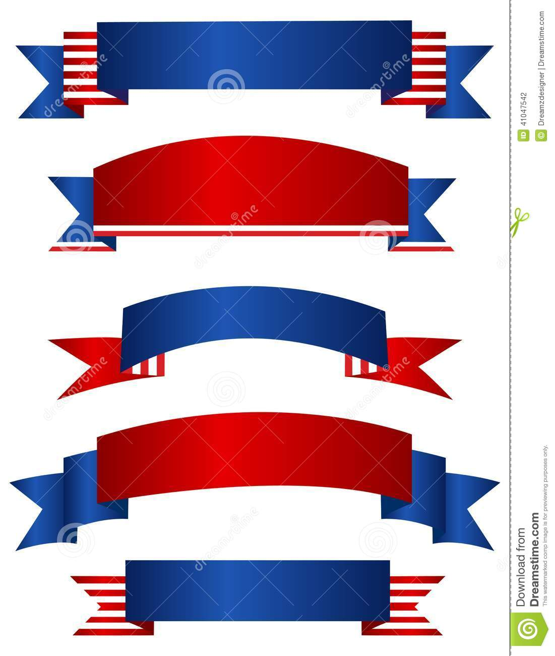 Usa Patriotic Banner Banners Stock Vector Illustration