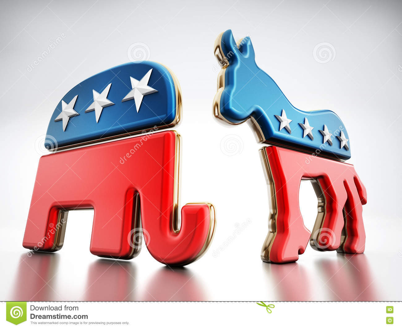 Usa Political Party Symbols Editorial Stock Photo Illustration Of