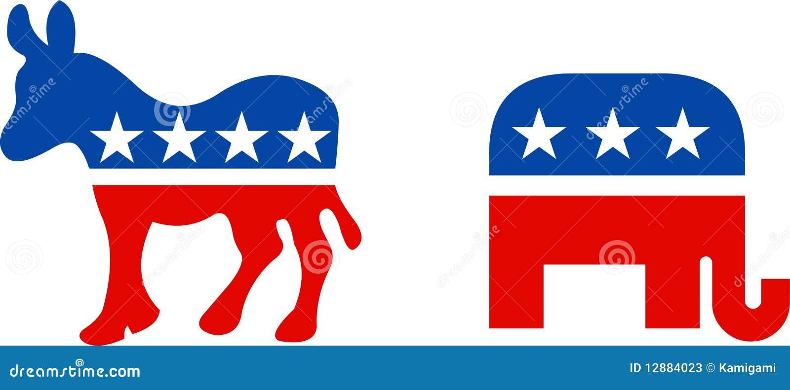Usa Political Symbols Editorial Stock Photo Illustration Of Blue