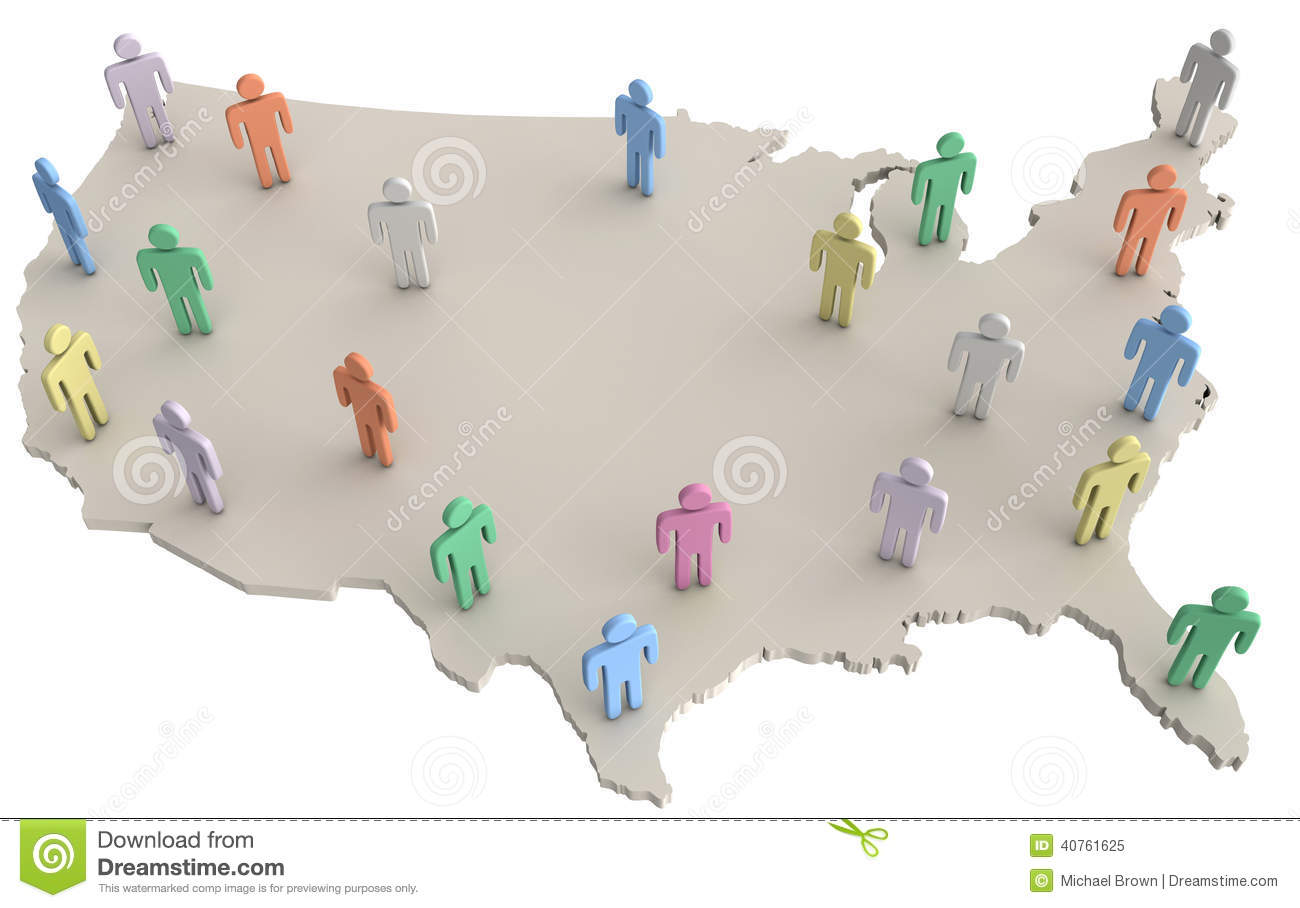 USA Potion People Standing On America Map Stock ... on east coast map, great lakes map, nevada map, the us map, florida map, caribbean map, the world map, mississippi map, blank map, us state map, 13 colonies map, arkansas map, africa map, missouri map, europe map, canada map, mexico map, full size us map, tennessee map, texas map,