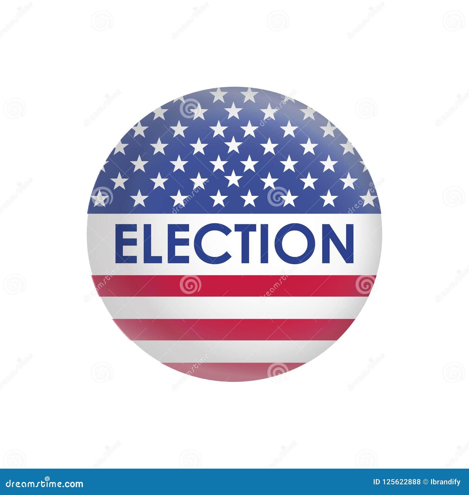 USA-Präsidentschaftswahldesignvektor