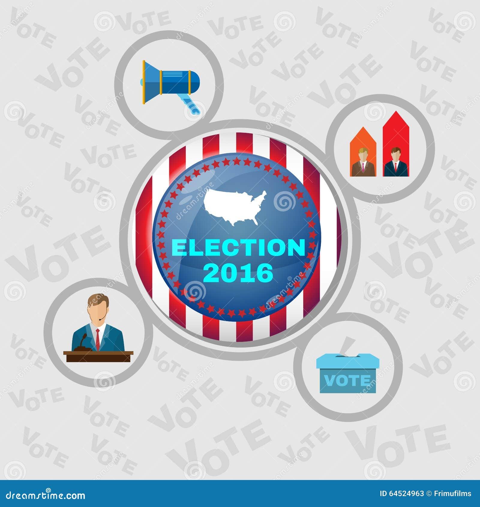 usa presidential election 2016 banner stock vector image. Black Bedroom Furniture Sets. Home Design Ideas