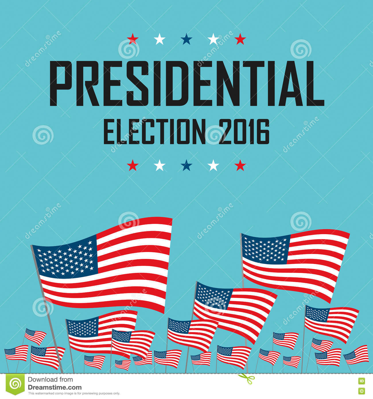 2016 usa presidential election campaign stock vector. Black Bedroom Furniture Sets. Home Design Ideas