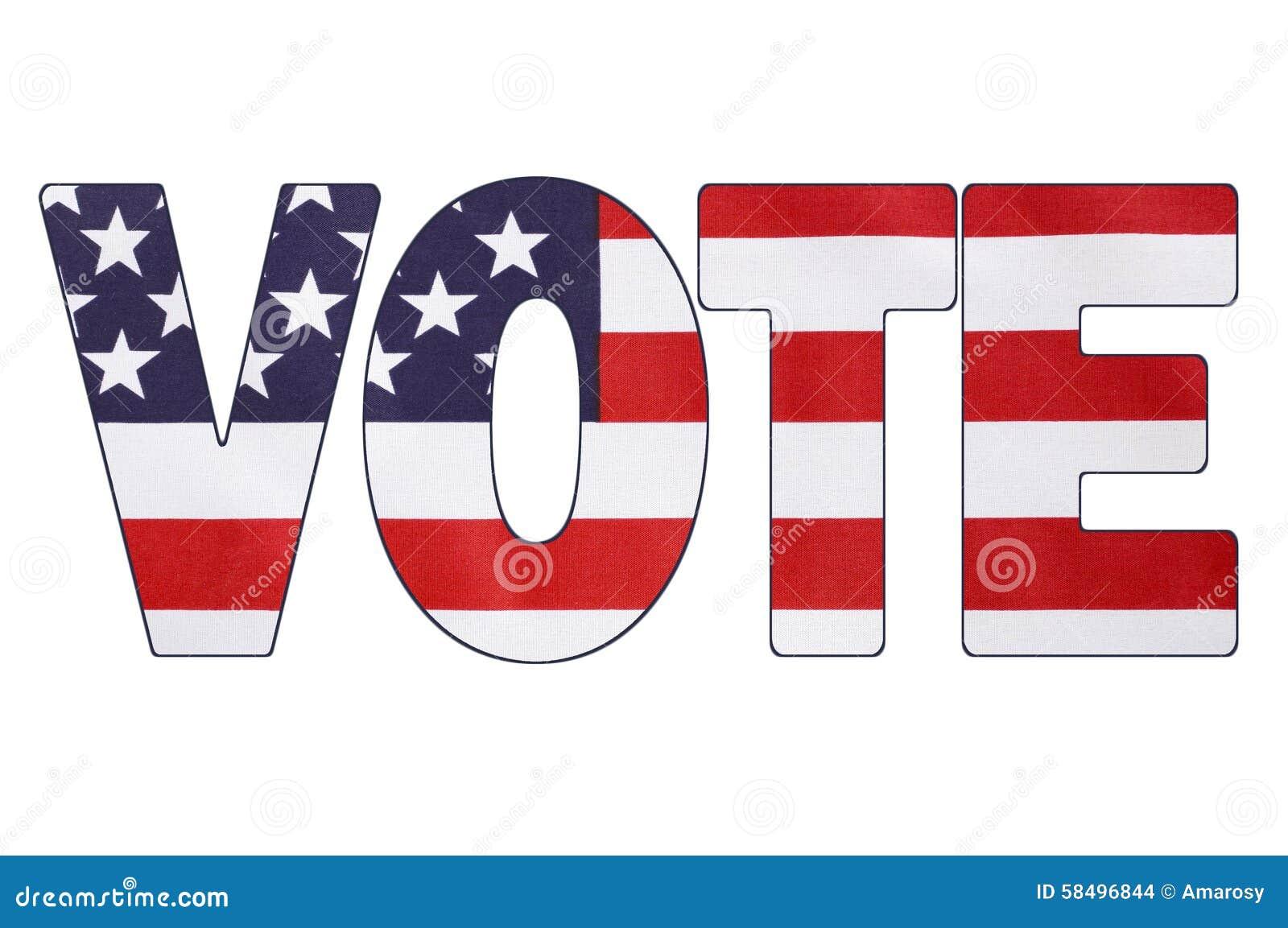 usa 2016 presidential election flag stock photo