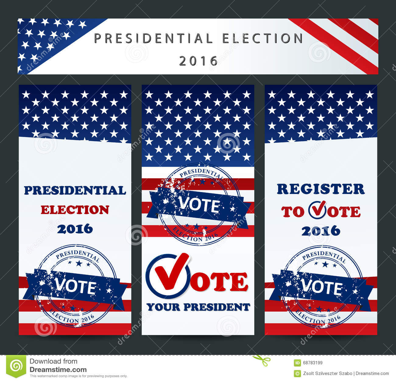 usa presidential election template stock vector illustration of
