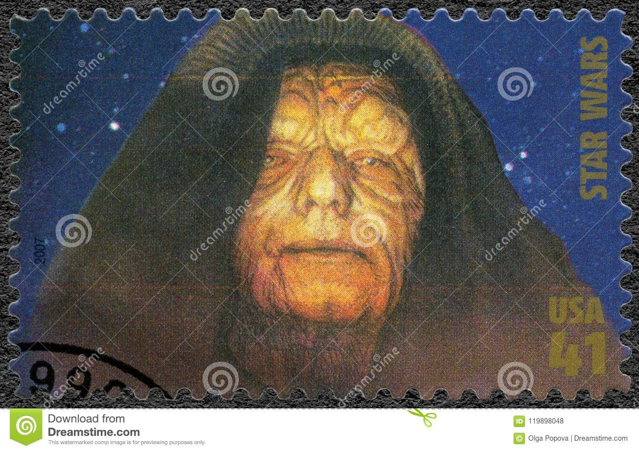 USA - 2007: shows Emperor Sheev Palpatine, Darth Sidious series Premiere of Movie Star Wars 30 anniversary