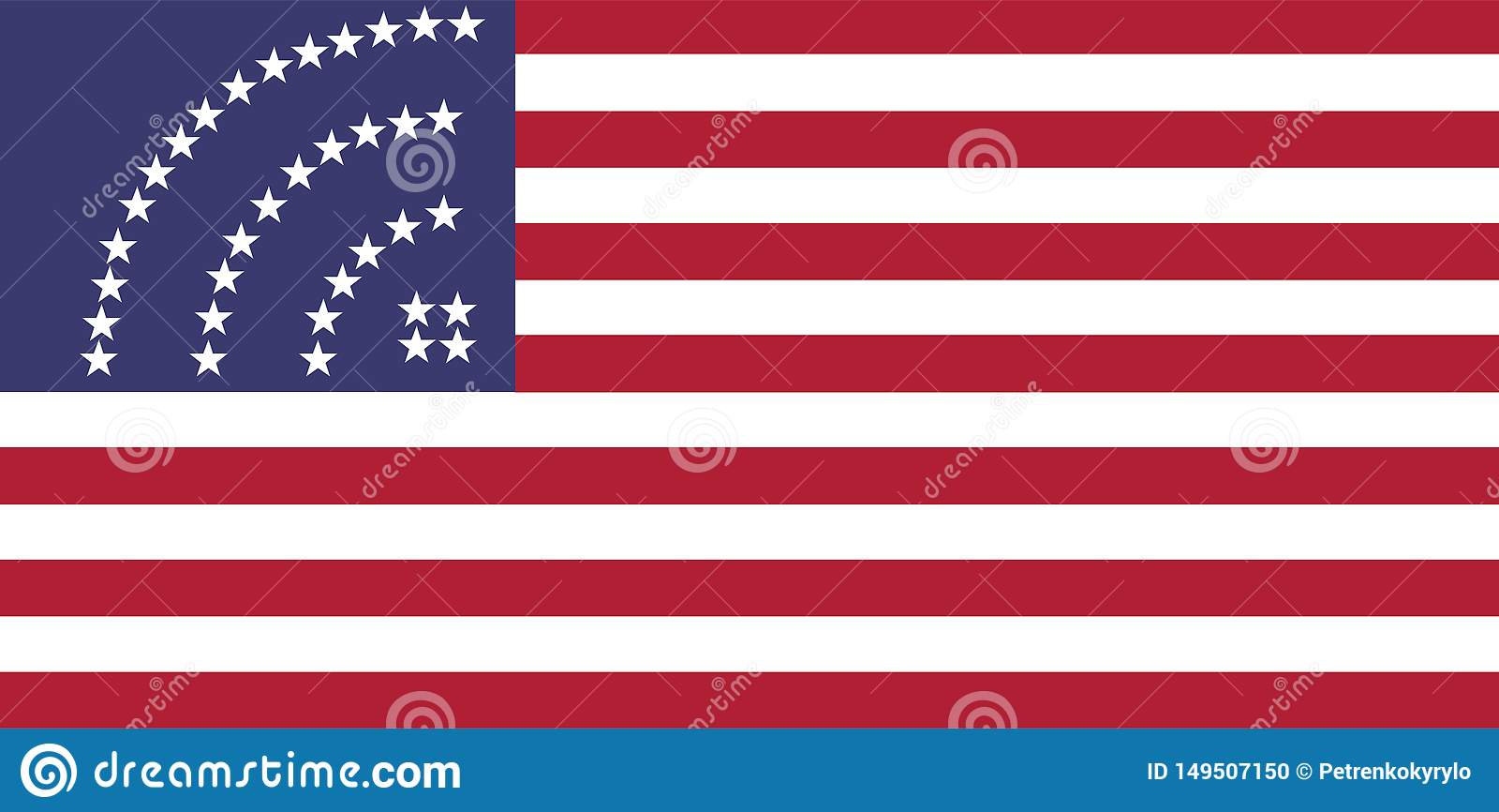USA sjunker med stj?rnor f?r wifisymbolstecknet
