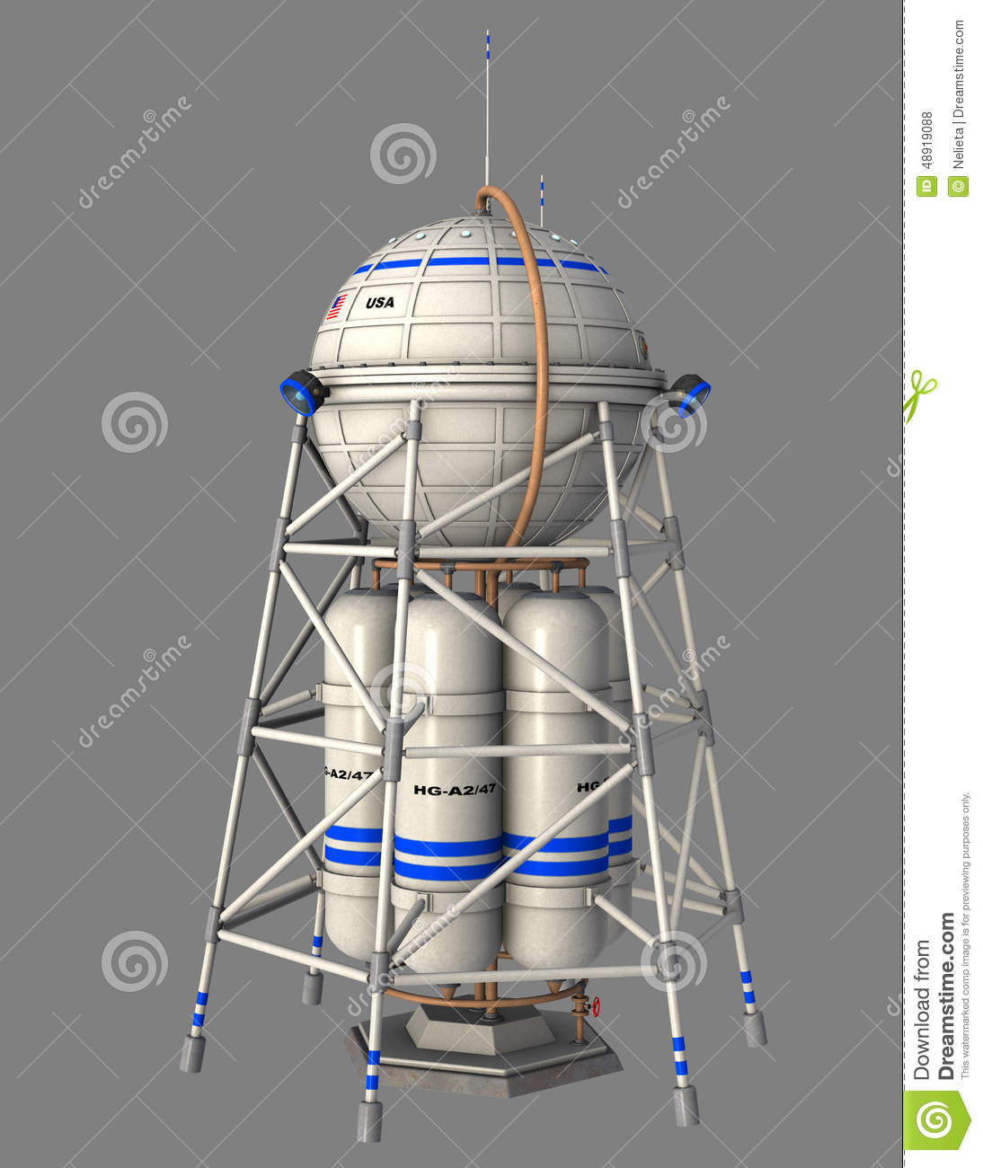 Usa space station stock illustration image 48919088 for Space station usa