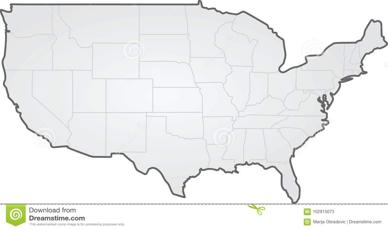 USA. states border map stock vector. Illustration of land - 102915073