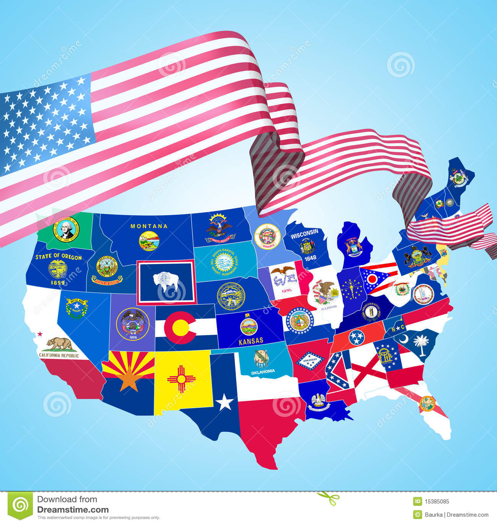 Usa Symbols Stock Illustration Illustration Of Kansas 15385085