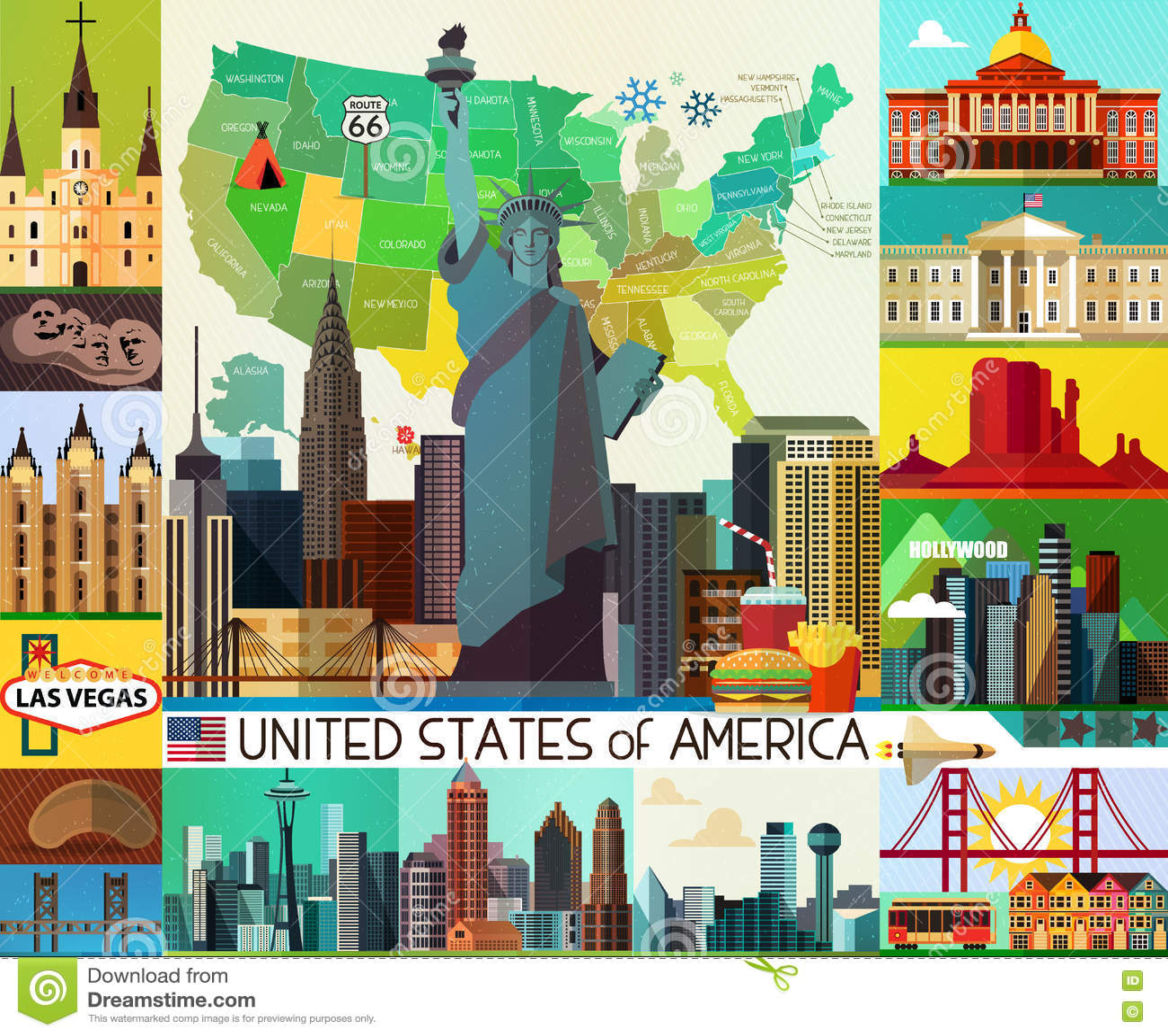 Usa Travel Map Stock Vector Illustration Of Dollar 78499735