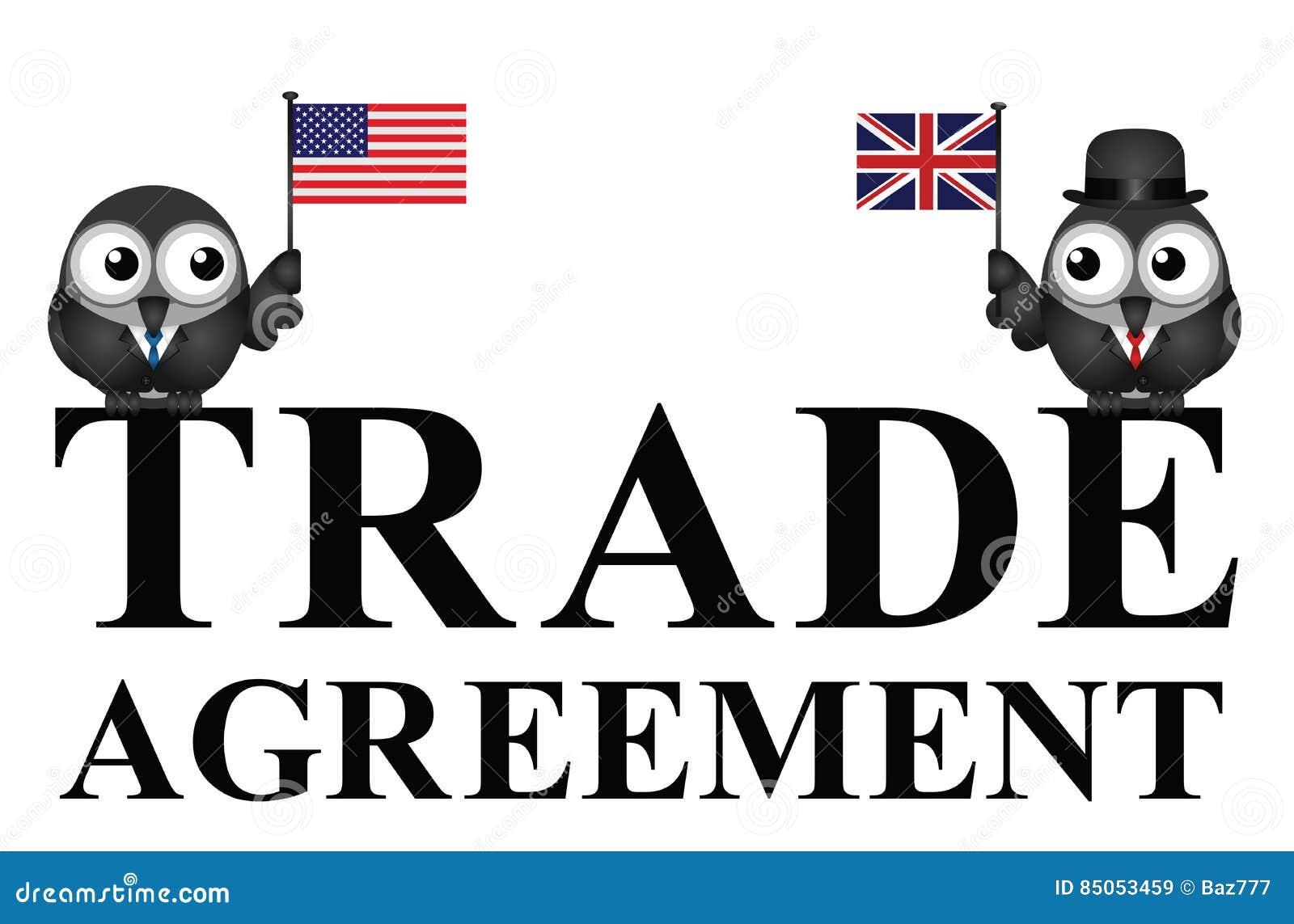 Usa Uk Transatlantic Trade Agreement Negotiations Stock Vector