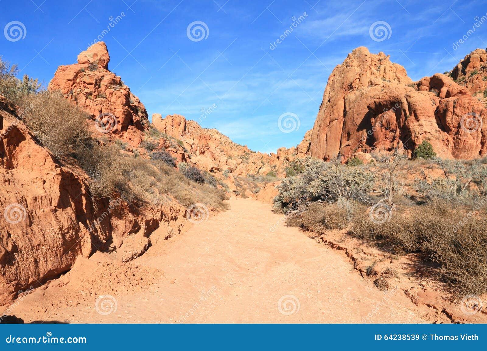 USA, Utah/Arizona: Arroyo in der Paria-Schlucht-Wildnis