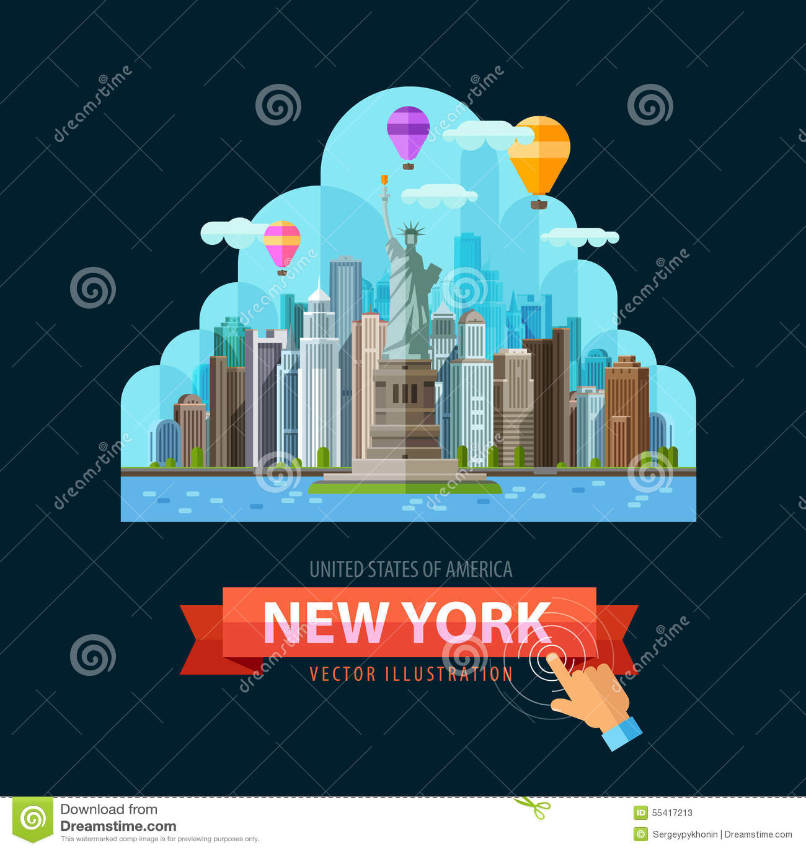 Usa Vector Logo Design Template New York City Or Illustration 55417213 Megapixl