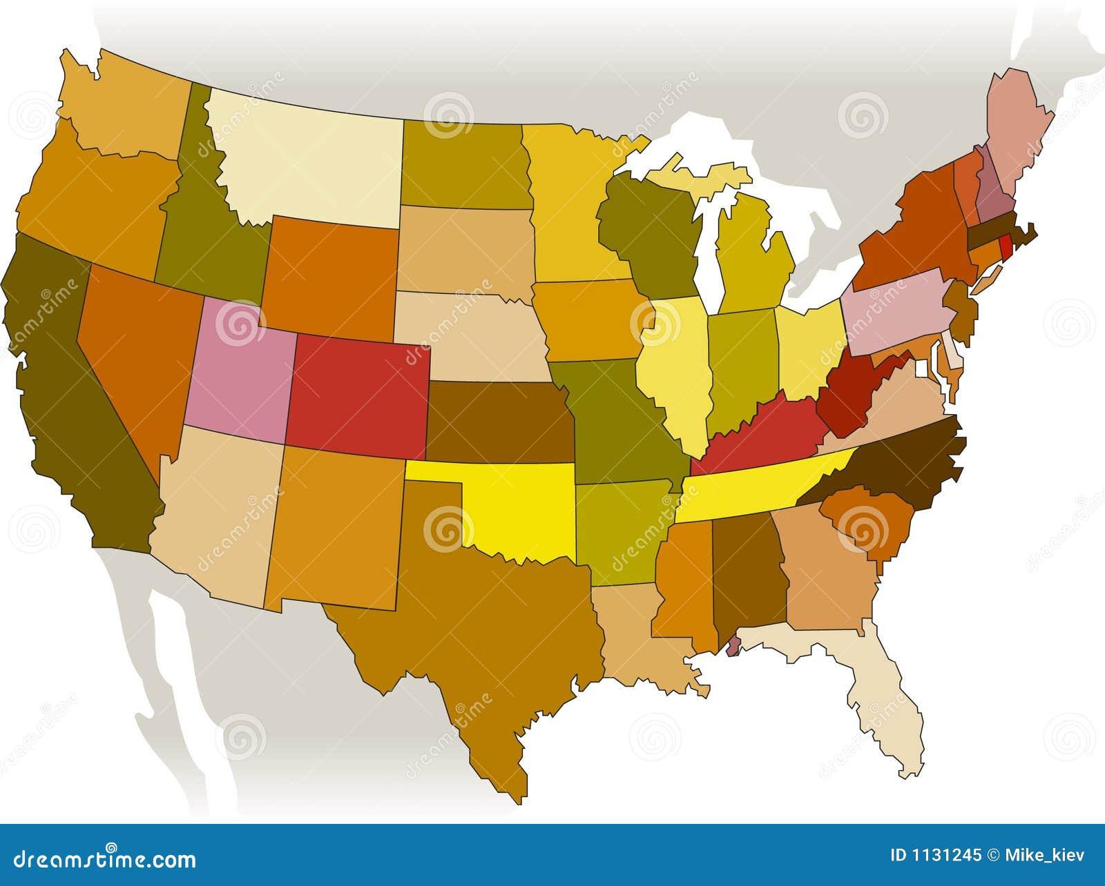 USA Vector Map Royalty Free Stock Photo Image - Map usa vector