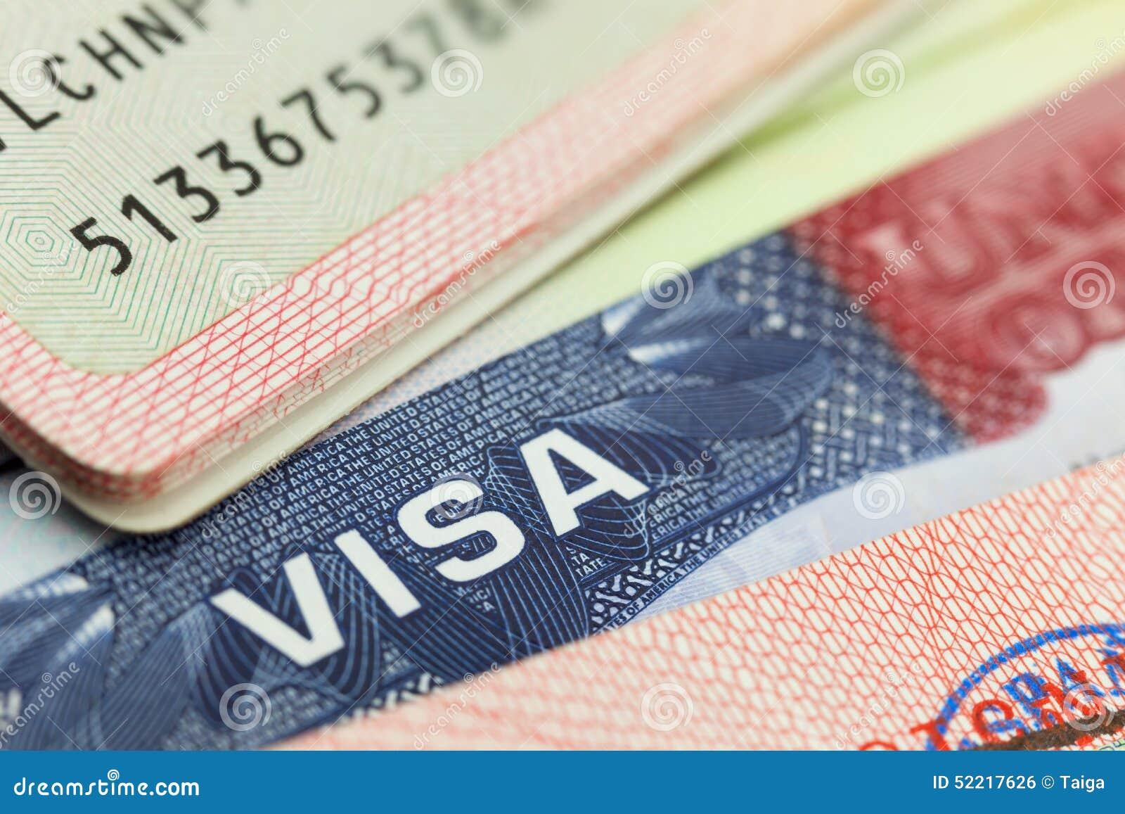 Usa Visa In A Passport Background Stock Photo Image Of Passport America 52217626