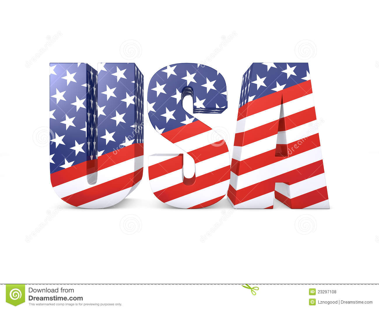 USA Word 3d Royalty Free Stock Photos - Image: 23297108