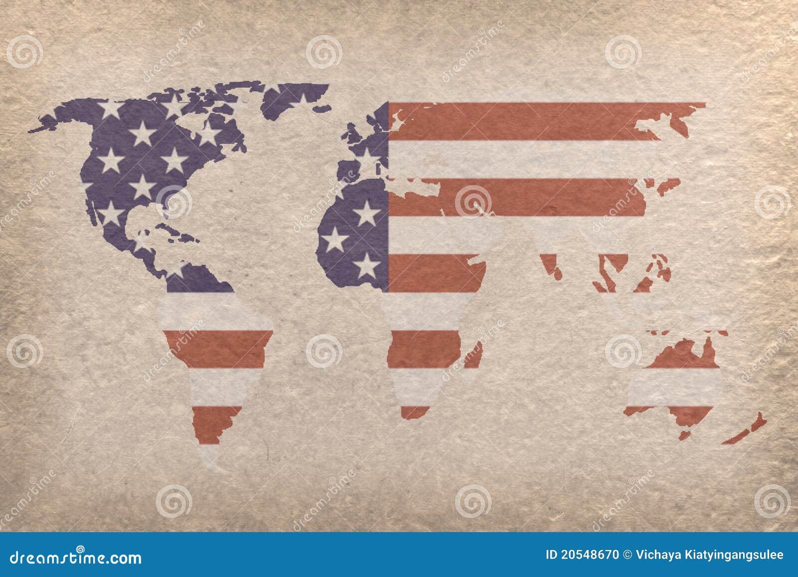 USA World Map Photo Image 20548670 – Usa in World Map