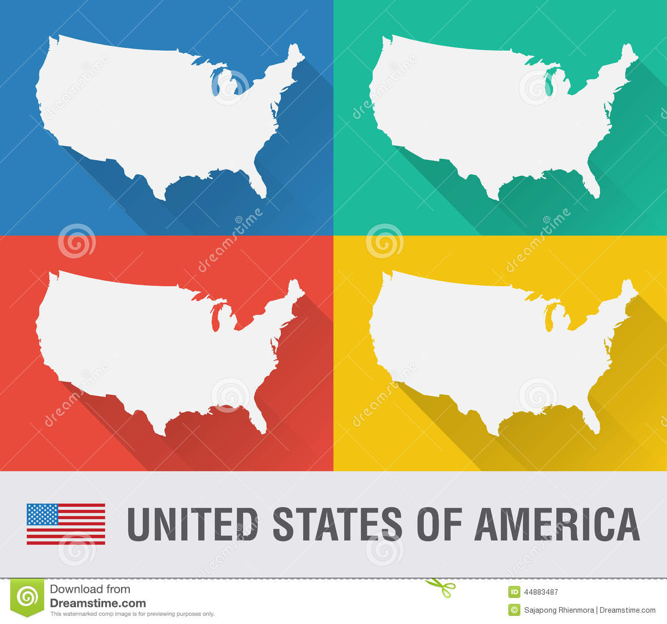 USA World Map Stock Photo Image - Usa world map